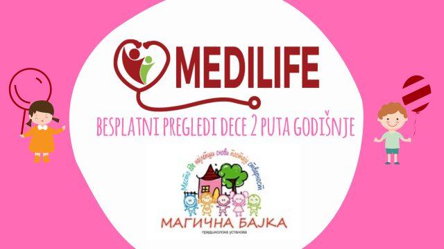 Besplatni pregledi dece u ordinaciji MEDILIFE - vrtić MAGIČNA BAJKA